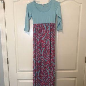 Pink Blush Maternity Maxi Dress